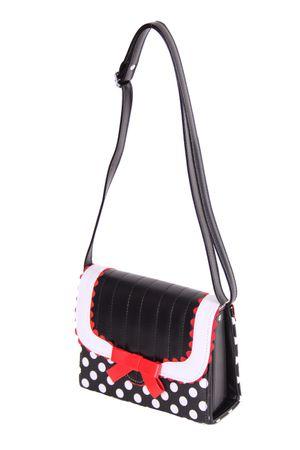 SugarShock Soranda 50s retro Polka Dots Handtasche  – Bild 9
