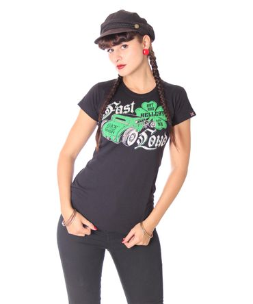 Hotrod Hellcat Irish Hot Rod Girlie T-Shirt – Bild 2