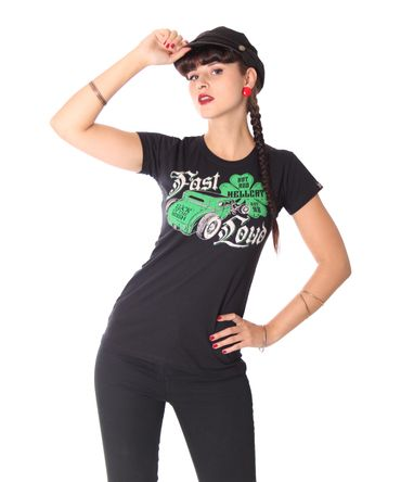 Hotrod Hellcat Irish Hot Rod Girlie T-Shirt – Bild 1