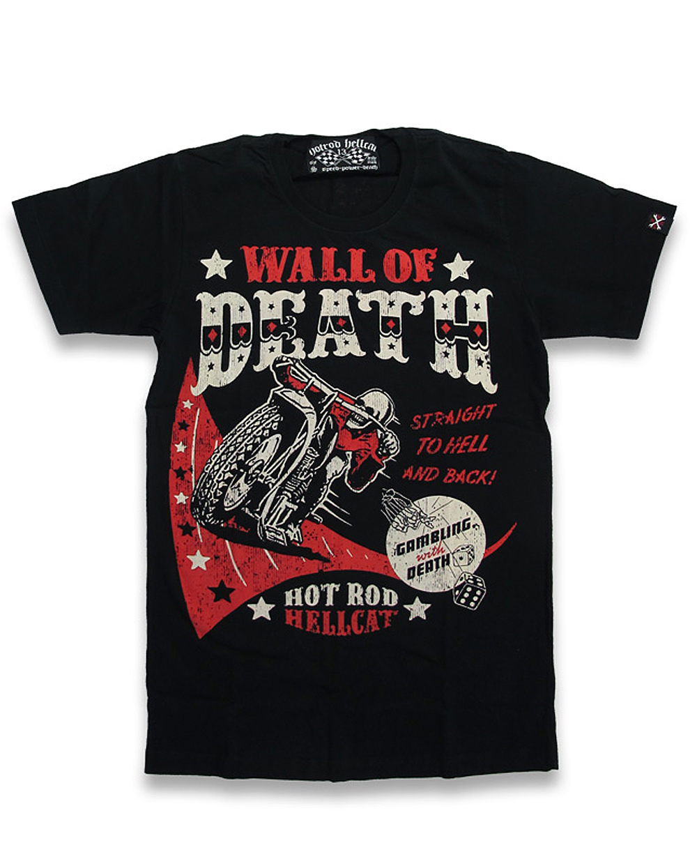 wall of death motorrad skeleton m nner t shirt v hotrod. Black Bedroom Furniture Sets. Home Design Ideas
