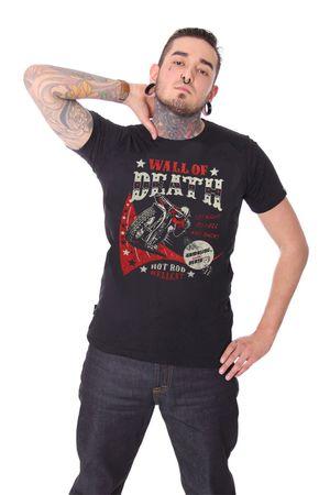 Wall of Death Motorrad Skeleton Männer T-Shirt v. Hotrod Hellcat – Bild 1