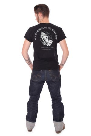 Liquor Brand In Memoria oldschool Tattoo Männer T-Shirt