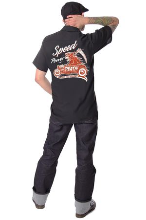 Hot Rod Reaper retro Männer Workshirt v. Hotrod Hellcat