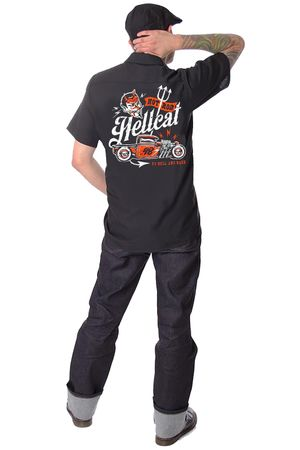 to Hell and Back retro Männer Hot Rod Workshirt v. Hotrod Hellcat – Bild 1