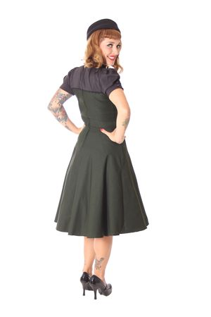 Neyla 50er retro Uniform Swing Petticoat Kleid v. SugarShock – Bild 6