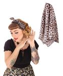 50s Frisuren Leoparden retro Nickituch Hairband Haar Tuch Bandana v. SugarShock 001
