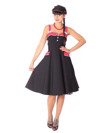 Kahira 50er retro Polka Dots Petticoat Kleid v. SugarShock – Bild 4
