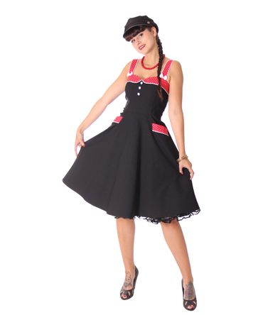 Kahira 50er retro Polka Dots Petticoat Kleid v. SugarShock – Bild 1
