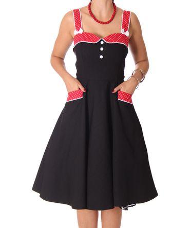 Kahira 50er retro Polka Dots Petticoat Kleid v. SugarShock – Bild 5