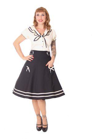 Oletta 50s retro Sailor Tellerrock Petticoat Rock v. SugarShock – Bild 7
