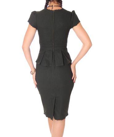 Penelope 40er retro Uniform Schößchen Pencil Kleid v. SugarShock – Bild 5