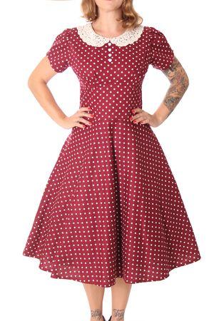 SugarShock Librada Crochet Collar 50er retro Polka Dots Petticoat Kleid – Bild 3