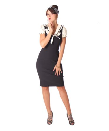 SugarShock Jennica 50er retro Collar Pencil Kleid – Bild 11