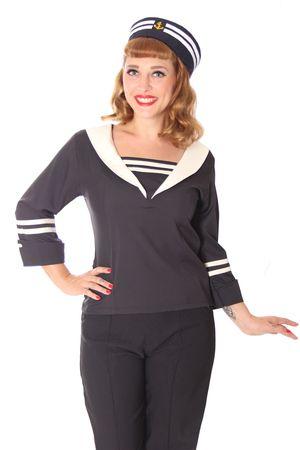 Kaltrina 50er Jahre retro Sailor Style Bluse v. SugarShock – Bild 1