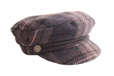 SugarShock Tartan Uniform Cap retro Biker Fisherman Mütze  – Bild 1