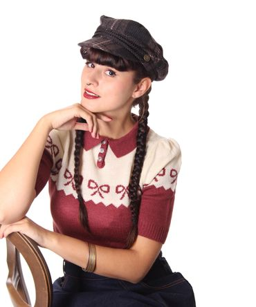 SugarShock Tartan Uniform Cap retro Biker Fisherman Mütze  – Bild 6