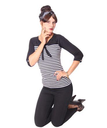 Agneza Streifen Bolero 3/4 Arm Shirt v. SugarShock – Bild 6