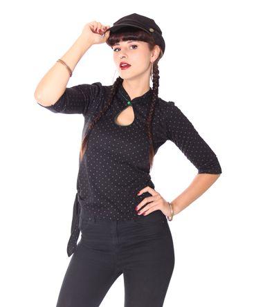 Laina Keyhole Polka Dots 3/4 Arm Longsleeve v. SugarShock – Bild 1