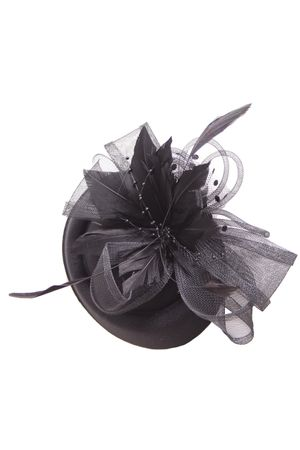 Burlesque Headpiece Fascinator Pillbox retro Mini Hut Haarschmuck – Bild 2