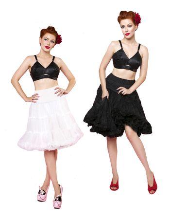 Dolly & Dotty 3-reihiger 50er Jahre retro Petticoat Unterrock 59cm verstellbar – Bild 8