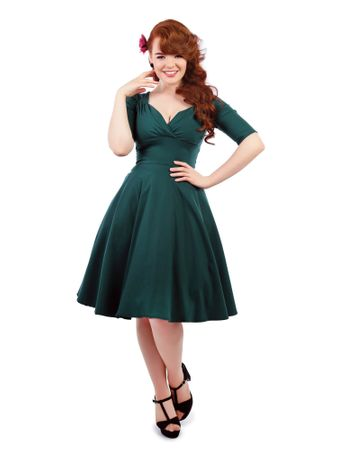 Collectif 40s retro 1/2 Arm Vintage Style Petticoat Kleid – Bild 1