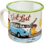 VW Bulli - Let´s get Lost retro Emaille Becher Tasse v. Nostalgic Art 001