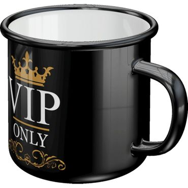 VIP only retro Emaille Becher Tasse v. Nostalgic Art – Bild 2