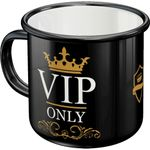 VIP only retro Emaille Becher Tasse v. Nostalgic Art 001