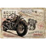 Nostalgic Art Route 66 Bike Map retro Blechschild 001