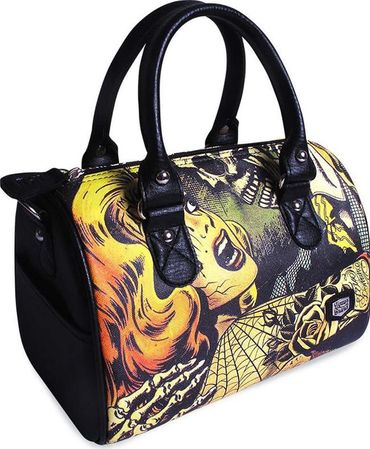 Horror Tattoo Round Bag Handtasche Tasche v. Liquor Brand