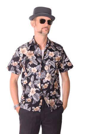 FINE49 retro Kahekili Hawaii Blüten Hemd Hawaiian Shirt – Bild 2