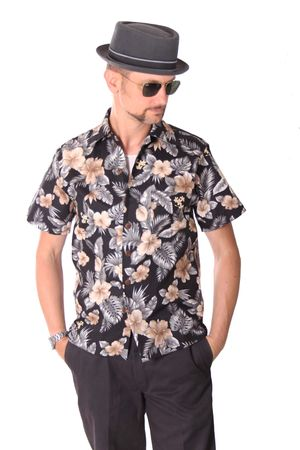 FINE49 retro Kahekili Hawaii Blüten Hemd Hawaiian Shirt