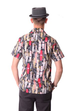 FINE49 retro Kahekili Surfboard Hawaii Blüten Hemd Hawaiian Shirt – Bild 4