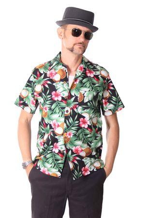 FINE49 retro Coconut Hawaii Blüten Hemd Kahekili Hawaiian Shirt – Bild 2