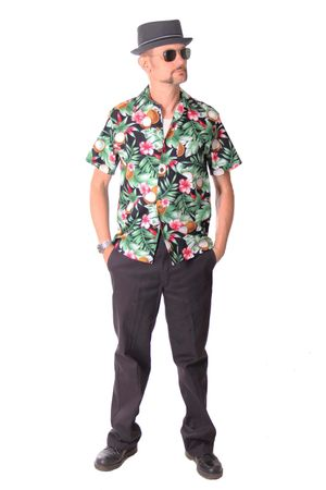 FINE49 retro Coconut Hawaii Blüten Hemd Kahekili Hawaiian Shirt – Bild 3