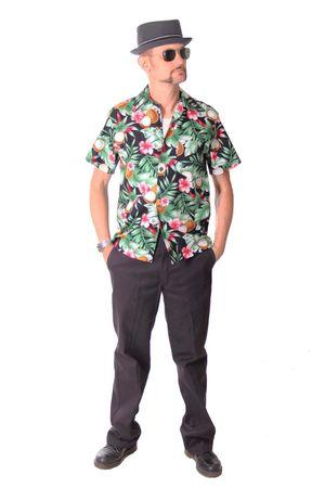 FINE49 retro Coconut Hawaii Blüten Hemd Kahekili Hawaiian Shirt – Bild 3