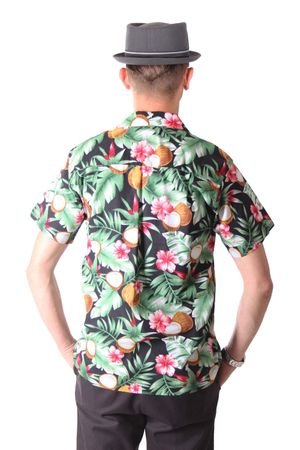 FINE49 retro Coconut Hawaii Blüten Hemd Kahekili Hawaiian Shirt – Bild 5