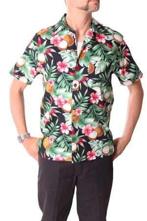 FINE49 retro Coconut Hawaii Blüten Hemd Kahekili Hawaiian Shirt – Bild 4