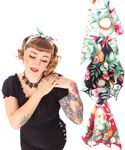 50s Frisuren Coconut Hawaii Flower retro Nickituch Hairband Haar Tuch Bandana v. SugarShock 001