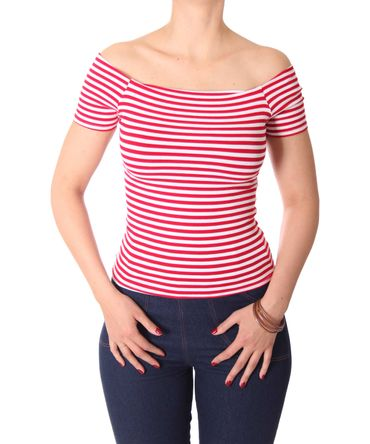 SugarShock Ranja 50s retro Pin Up Streifen Sailor Shirt – Bild 10