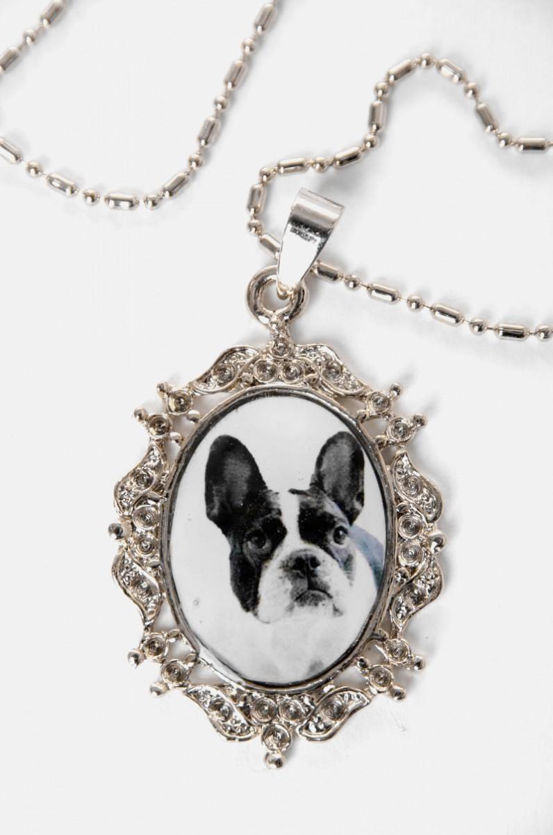 franz sische bulldogge rockabilly amulette halskette ebay. Black Bedroom Furniture Sets. Home Design Ideas