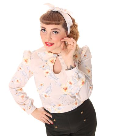 SugarShock Jowna 50s retro Hawaii Kurzbluse