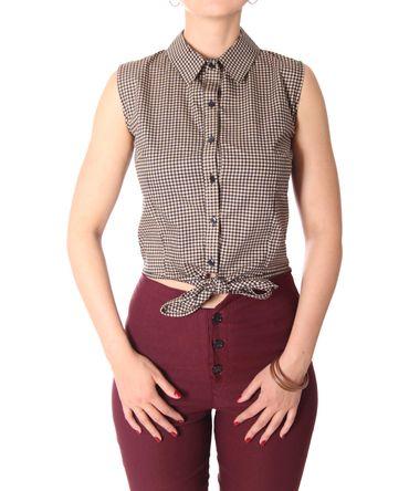 SugarShock Henja 50s Style retro Gingham Binde Bluse – Bild 14