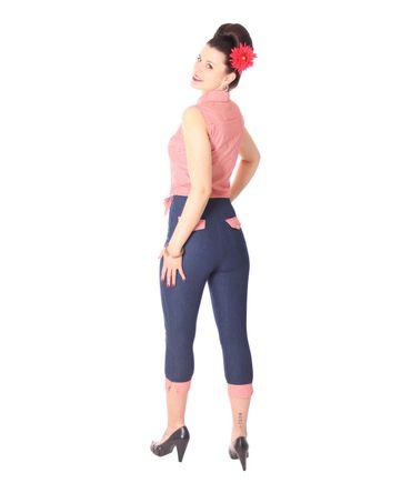 SugarShock Henja 50s Style retro Gingham Binde Bluse – Bild 9