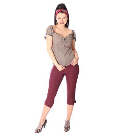 SugarShock Tabea Gingham 50s retro Blusen Shirt – Bild 3