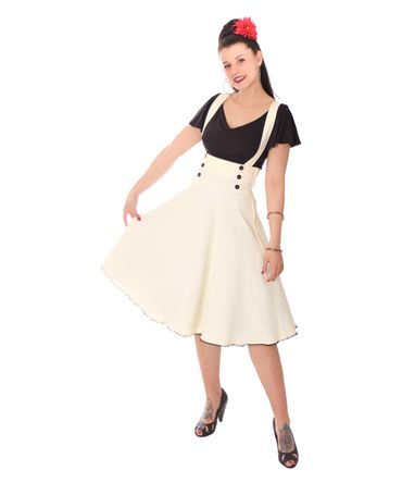 SugarShock Valentina 40er retro Hosenträger Petticoat Rock – Bild 1