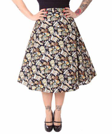 SugarShock Kanaia 50er Jahre retro Diner Style Petticoat Rock – Bild 4