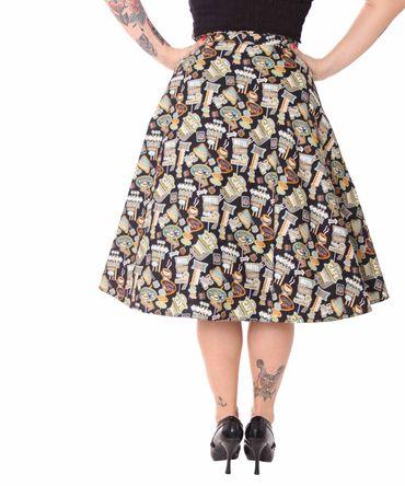 SugarShock Kanaia 50er Jahre retro Diner Style Petticoat Rock – Bild 3