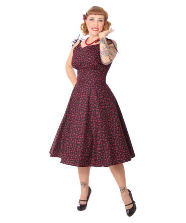 SugarShock Aloma 50s retro Kirschen Swing Kleid