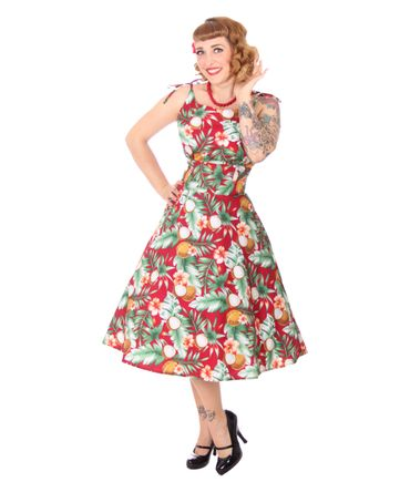 SugarShock Aloma Hawaii 50s retro Swing Kleid – Bild 10
